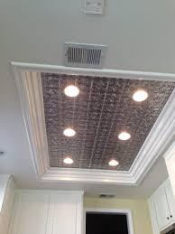kitchen lighting fluorescent light fixture drum silver