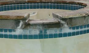 sunbrite pool tile before and after calcium deposit removal