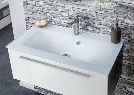 fackelmann 74001 waschbecken glas bad glaswaschbecken 80 cm weiß