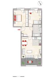 3 zimmer wohnzimmer mit offener küche