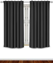 Eclipse Room Darkening Curtain Rod by Amazon Com Blackout Room Darkening Curtains Window Panel Drapes
