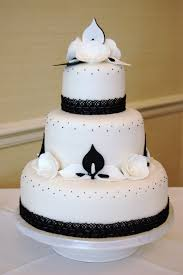 white and black cake boss wedding cake