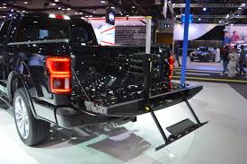 2018 Ford F-150 Limited Tailgate Step Side View At 2017 Dubai Motor Show Truck Steps Pickup Livingstep Tailgate Step Youtube 2019 Gmc Sierra 1500 Of The Future 2014 Ford F150 Xlt Review Motor 2015 Demstration Amazoncom Traxion 5100 Ladder Automotive 2018 Limited Tailgate Step Side View At 2017 Dubai Show Westin 103000 Truckpal Gator Innovative Access Solutions Portable Heavy Duty Climb Stair Safety Capsule Supercrew The Truth About Cars
