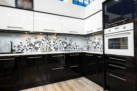 credence cuisine noir et blanc cuisine noir et blanche 5 photo 38361 newsindo co