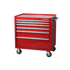 Husky 36 In. W 24.5 In. D 6-Drawer Roller Cabinet Tool Chest In Red ...