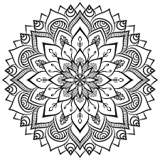Mandalas Tibetano Pintar Colorear Mandalas Dibujos Con