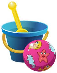 Beach Bucket And Ball PNG Clipart Image