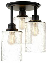 flush ceiling light rustic mount lighting globe electric annecy 3