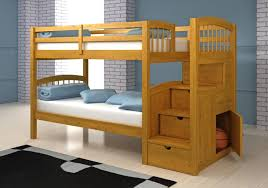 Bunk Beds For Kids With Stairs Having Full Over Full Design