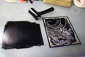 Linocut Is A Printmaking Technique In Which Sheet Of Linoleum Used For The Relief Surface Design Cut Into With Sharp Knife
