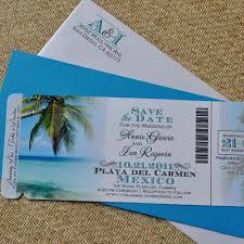 Tropical Beach Wedding Invitations Themed