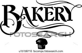 450x293 Clipart of word bakery business sign business signs