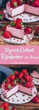 veganer erdbeer käsekuchen ohne backen