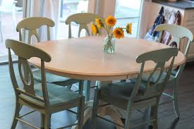 Painted Dining Set Chalk Paint Room Table And Chairs Colorful Kitchen