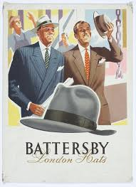 Detail Of Battersby London Hats Advertisement Poster Walsall Lithographic Company Limited 1930s By Unknown