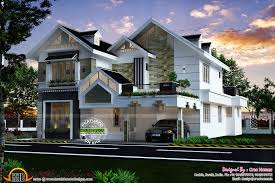 Pitched Roof House Designs Photo by Sloped Roof Kerala Home Design Indian House Plans Plans 5