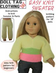 Easy Knit Sweater 18 Doll Clothes