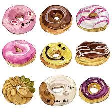 Donuts illustration watercolours donuts foodillustration painting