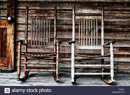 Two Old Wooden Rocking Chairs On Front Porch, Part Of Door ... Rustic Rocking Chair La Lune Collection Log Cabin Rocker Home Outdoor Adirondack Twig Modern Gliders Chairs Allmodern R659 Reclaimed Wood Arm Wooden Plans Dhlviews Marshfield Woodland Framed Sumi In 2019 Rockers The Amish Craftsmen Guild Ii Dixon