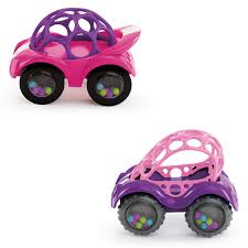 Oball - Pink Rattle & Roll Cars - Kids II - Toys