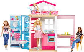 Barbie Living Room Playset by Barbie 2 Story House Dvv47 Barbie