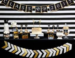 black and gold graduation party graduation end of school black