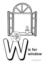 Letter W Coloring Pages Alphabet Words For Kids