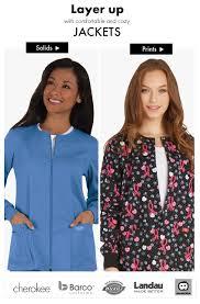 Ceil Blue Print Scrub Jackets by Nursing And Dental Scrub Jackets At Medical Scrubs Mall