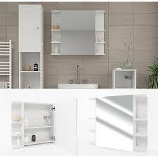 vicco spiegelschrank fynn 80 x 64 cm weiß spiegel badspiegel bad wandspiegel