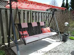 Patio Swings With Canopy by The Creative Me And My Mcg Upcycling Patio Chairs To A Garden