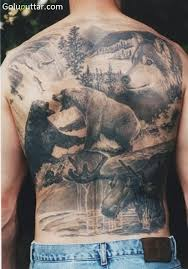 Awesome Tattoo Of African Animals