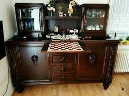 buffetschrank antik mit vitrinenaufsatz deko wohnzimmerschrank
