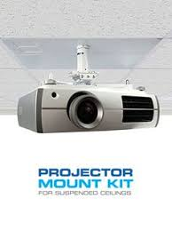 Install Projector Mount Drop Ceiling by Qualgear Qg Pm 002 Wht Universal Projector Ceiling Mount White