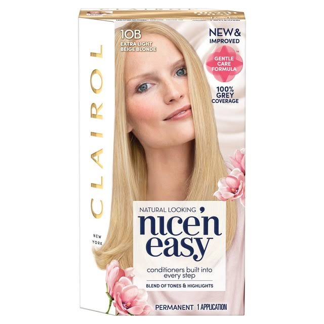 Clairol Nice'n Easy Permanent Hair Dye - 10B Extra Light Beige Blonde