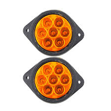 1 Pair 7 LEDs Car Side Marker Lights Truck Clearance Lights Round ... Trucklite Yellow 10 Series 212 Mkerclearance Lamp 10205y Round Led Truck And Trailer Lights Side Clearance New Sun 2pc 6 Oval Brake Stop 8946a Signalstat Replacement Lens For Marker Best Led Clearance Lights Camper Amazoncom Blue Cab Youtube 5pcs Clear Amber Roof Top Running High Profile 8 Diode Partsam 20 Pcs Amber 2 Beehive Led Boat 8947a Rectangular
