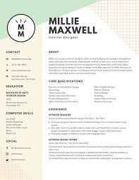 Amazing Interior Design Resume 98 For Your Skills For Resume With