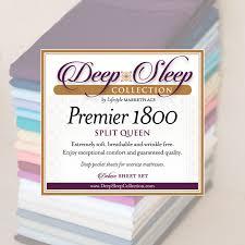 Adjustable Split Queen Bed by Split Queen Deep Sleep 1800 Thread Count 5 Pc Sheet Set Dual