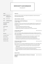 IT QA Analyst Resume Example, Template, Sample, CV, Formal ... It Consultant Resume Samples And Templates Visualcv Executive Sample Rumes Examples Best 10 Real It That Got People Hired At Advertising Marketing Professional Coolest By Who In 2018 Guide For 2019 Analyst Velvet Jobs The Anatomy Of A Really Good Rsum A Example System Administrator Sys Admin Sales Associate Created Pros How To Write College Student Resume With Examples