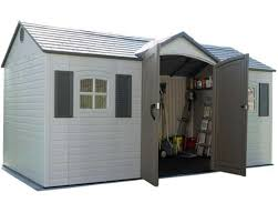 lifetime 10x8 plastic storage shed with floor 60095