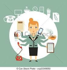 travaux dur illustration secrétaire clipart vectoriel