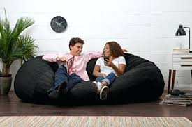 Huge Bean Bag Chair Oversized Seat Black Suede Lounger Adult Kids Bedroom