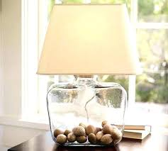 Fillable Glass Lamp Base by Clear Glass Base Lamp Stcked Cler Fillable Clear Glass Table Lamp