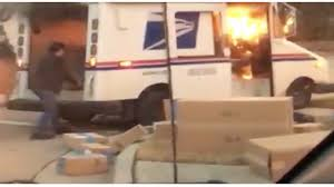 100 Postal Truck Fire Worker Saves Christmas After USPS Truck Catches Fire