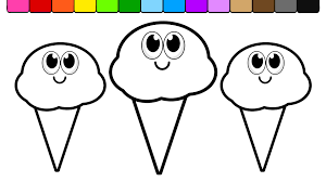 Learn Colors For Kids With This Ice Cream Coloring Page 01