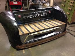 Custom Made Bench From Vintage Truck Parts. For Sale. Contact Kyle ...