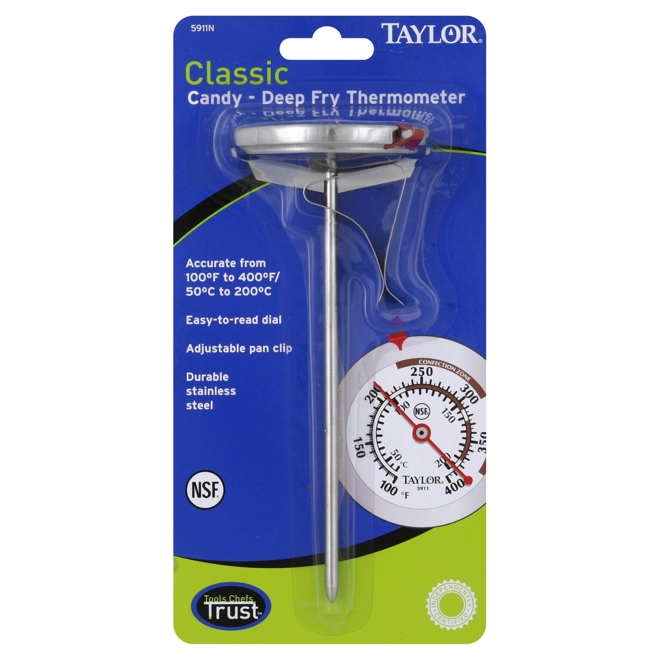 Taylor 5911 N Classic Series Candy and Deep Fry Thermometer