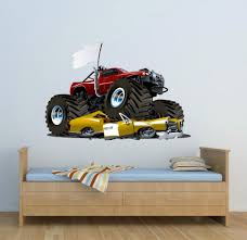 Full Colour Monster Truck Wall Decal Car Wall Art Sticker ... Cars Wall Decals Best Vinyl Decal Monster Truck Garage Decor Cstruction For Boys Fire Truck Wall Decal Department Art Custom Sticker Dump Xxl Nursery Kids Rooms Boy Room Fire Xl Trucks Stickers Elitflat Plane Car Etsy Murals Theme Ideas Racing Art