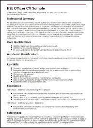 Hse Officer Cv Sample Myperfectcv Rh Co Uk Best Resume Format Examples 2017 Program Specialist