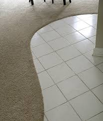 Laminate Floor Transitions To Tiles by Curved Tile And Carpet Transition Decorating And Renovating