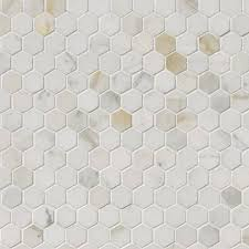 calacatta gold marble 1 hexagon polished mosaics